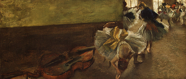 Dancers in the Rehearsal Room with a Double Bass, Degas
